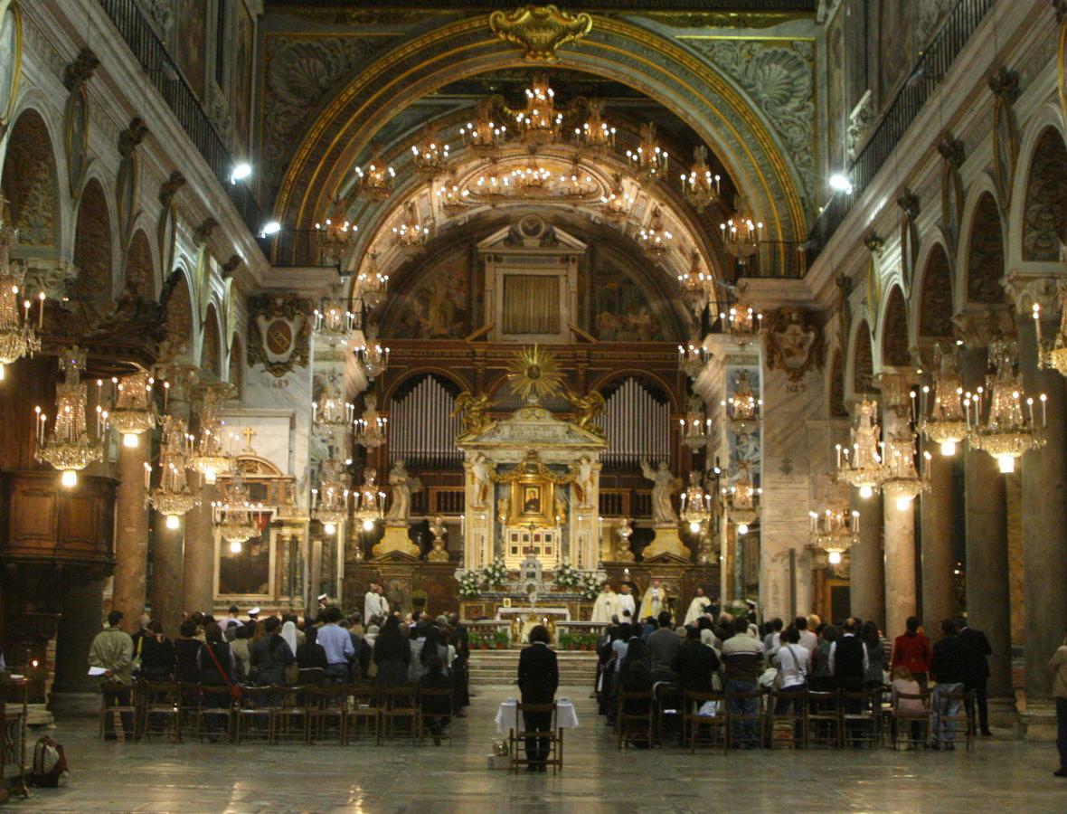 Solo 4 diffusori attivi lambda sound – Basilica di Santa Maria in Aracoeli